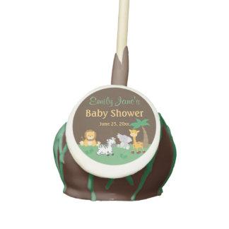 Jungle Safari Boy Baby Shower Cake Pops