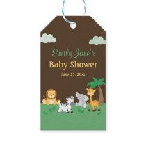 Jungle Safari Boy Baby Shower Gift Tags