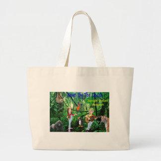 Jungle Safari Concert Large Tote Bag