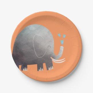 Jungle Safari Elephant Paper Plates