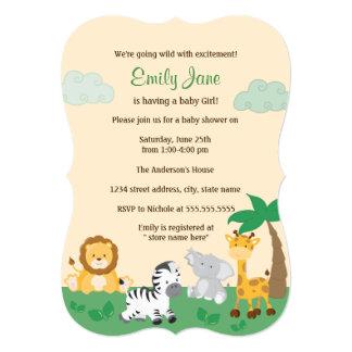 Jungle Safari Gender Neutral Baby Shower Invite