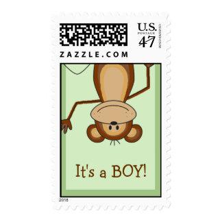 Jungle Safari Monkey Baby Shower Custom Stamps