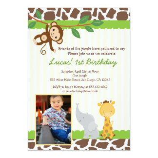 Safari Birthday Invitations Announcements Zazzle