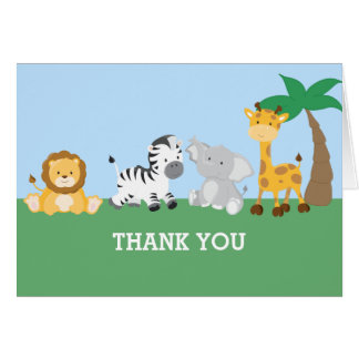 Jungle Safari Thank You Card