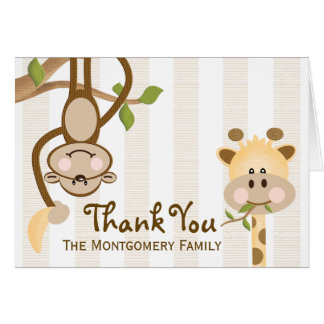 Jungle Safari Thank You Cards