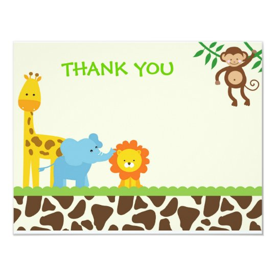 Preferred Jungle Safari Thank You Notes cards | Zazzle.com DO56