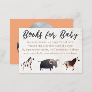 Jungle Safari Theme Books for Baby Enclosure Cards