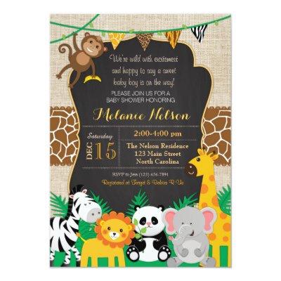 safari jungle animal flat thank you note cards zazzlecom