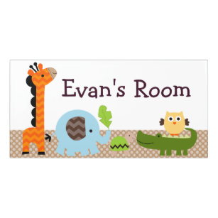 Giraffe Moustache DOOR SIGN Kids Bedroom Baby Nursery Sign DS0680