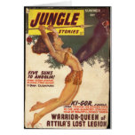 Jungle Stories Pulp Cover 1947 -Vintage Card