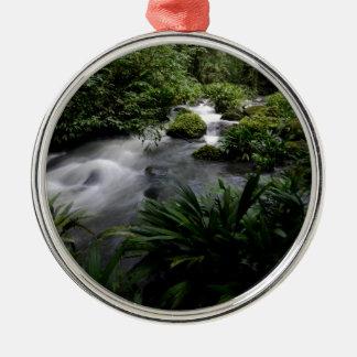 Jungle Stream River Landscape Amazon Metal Ornament