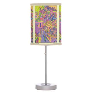 """Jungle Stripes II"" Abstract Art Table Lamp"