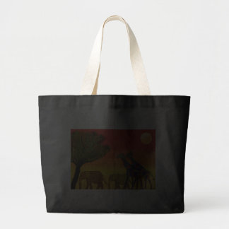 Jungle Sunset Tote Canvas Bags