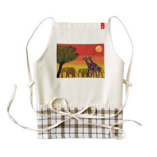 Jungle Sunset Zazzle HEART Apron