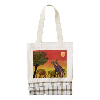 Jungle Sunset Zazzle HEART Tote Bag