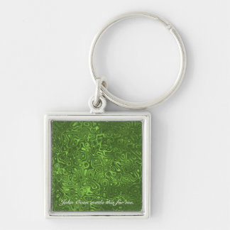 Jungle Swirl Keychain (with text) by John Oven