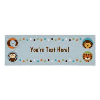 Jungle Tales Jungle Animals Personalized Banner Poster