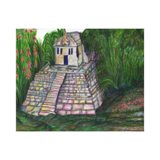 Jungle Temple Canvas Print