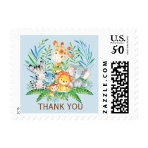 Jungle Thank You Boys Baby Shower Postage Stamp