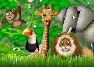 Jungle Theme Thank You Cards Zazzle