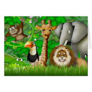 Jungle Theme Thanks Cards Greeting Photo Cards Zazzle