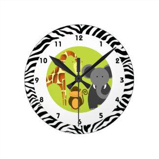 Jungle Themed Kid's Bedroom Clock