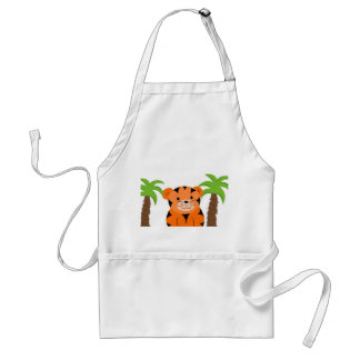 Jungle Tiger Baby Adult Apron