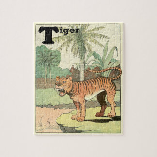 Jungle Tiger Illustration Jigsaw Puzzle