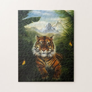 Jungle Tiger Landscape Puzzle