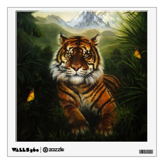 Jungle Tiger Landscape Wall Decal