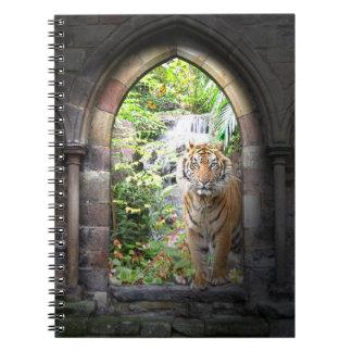 Jungle Tiger Waterfall Notebook