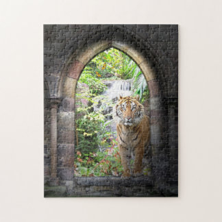 Jungle Tiger Waterfall Puzzle