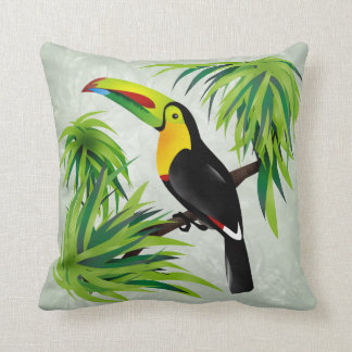 Jungle Toucan Throw Pillows