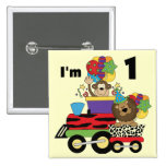 Jungle Train 1st Birthday T-shirts and Gifts Pinback Buttons