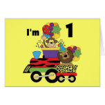 Jungle Train 1st Birthday T-shirts and Gifts Greeting Cards
