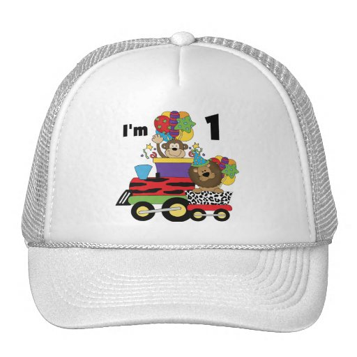 Jungle Train 1st Birthday T-shirts and Gifts Trucker Hat