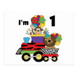 Jungle Train 1st Birthday T-shirts and Gifts Post Card