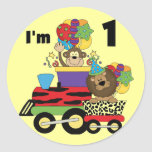 Jungle Train 1st Birthday T-shirts and Gifts Sticker