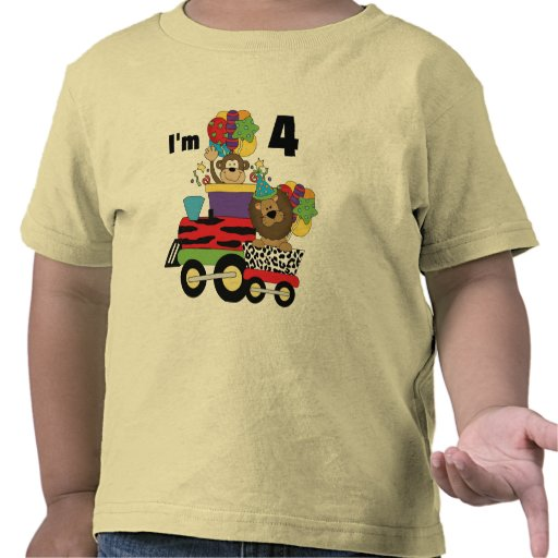 Jungle Train 4th Birthday  Tshirts and Gifts