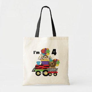 Jungle Train 4th Birthday  Tshirts and Gifts Bags