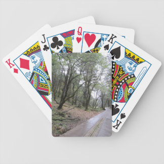 jungle tree forest trip journey bicycle playing cards