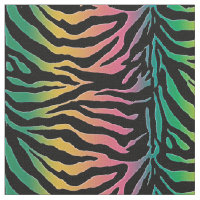 Jungle Weave Rainbow Animal Print Fabric