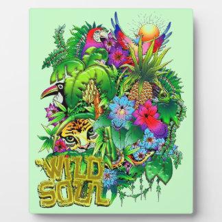 Jungle Wild Animals and Plants Plaque