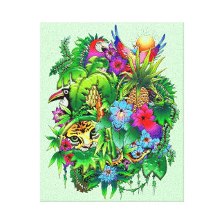 Jungle Wild Animals and Plants   Stretched Canvas  Gallery Wrap Canvas