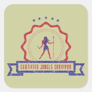 Jungle Woman Seal Sticker