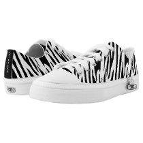 Jungle Zebra Princess Design  Zip Z shoes