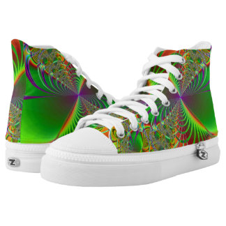Jungle Zipz High Top Shoes Printed Shoes