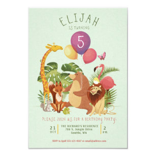 Zoo birthday party invitations announcements zazzle jungle zoo animal friends birthday party invite filmwisefo