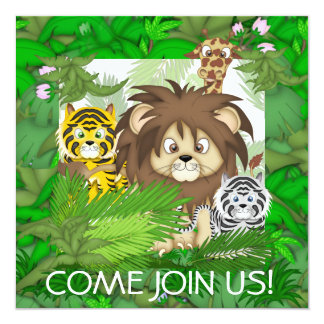 Jungle ZOO Invitations for YOUNG GIRLS or BOYS