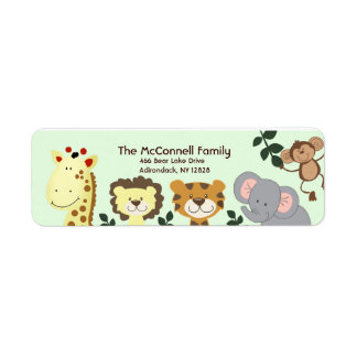 Jungle Zoo Party PRINTABLE ADDRESS LABELS
